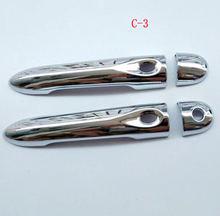 Крышка дверной ручки abs chrome для renault clio 2013 2015 Стикеры