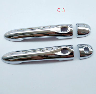 Door Handle Cover ABS Chrome for Renault Clio 2013 2015 Car Styling Stickers Auto Accessories 4 Pcs nitro triple chrome plated abs mirror 4 door handle cover combo