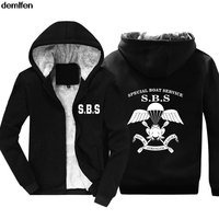 SBS Special Boat Service United Kingdom Special Forces Navy Army Hoodies Mens Fashion Winter Keep Warm