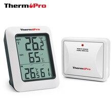 Thermopro tp60s 60 m sem fio digital indoor outdoor termômetro monitor de umidade com medidor de temperatura umidade