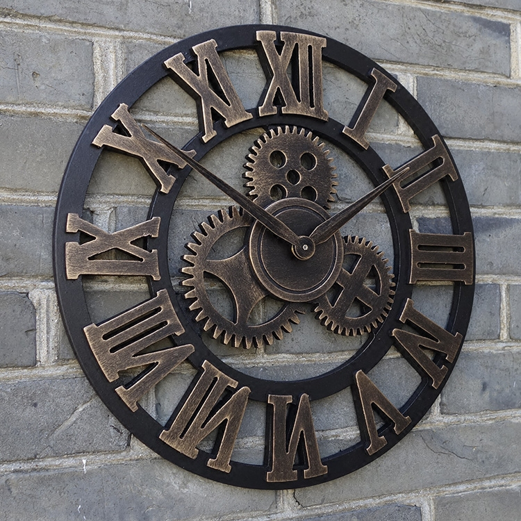 23 Oversized Rustic Home Decorative Retro Vintage Art Luxury Wall Clocks Large Gears Designed On The Wall Wall Clocks Large Clock Largeluxury Wall Clock Aliexpress