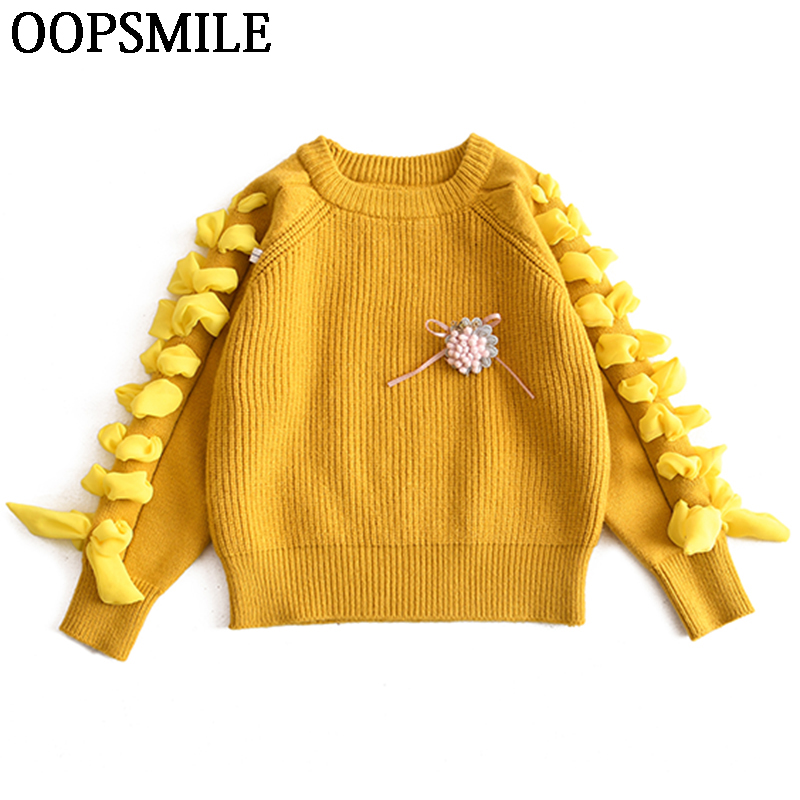 Girls Sweater Autumn Winter baby girls sweater Causal Knitted Long Sleeve Kids Sweaters Solid Children Clothes Toddler Sweaters sexy lace up christmas sweater v neck women sweaters and pullovers female long knitted sweater winter autumn pull femme hiver
