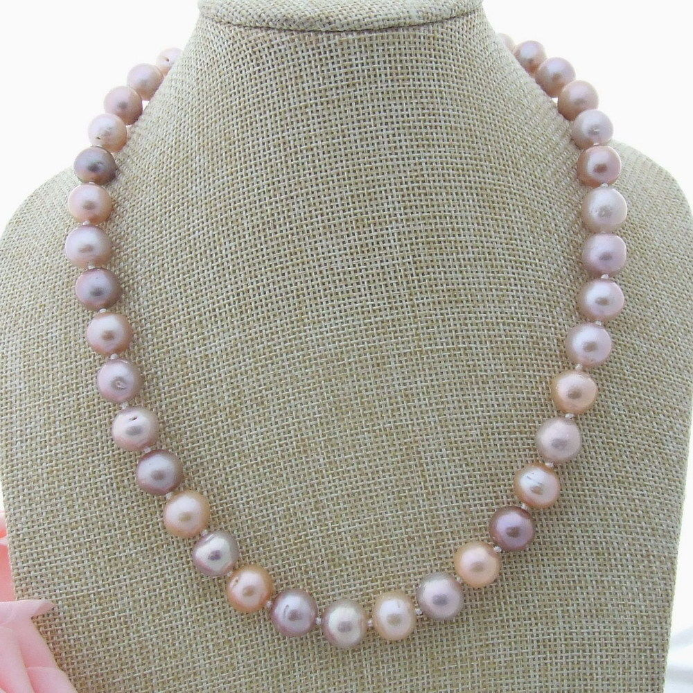 19'' Multi Color Keshi Pearl Necklace