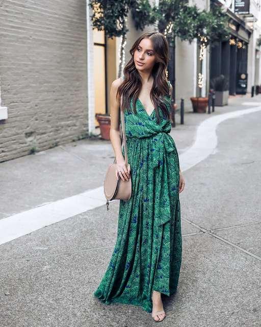 18de60e244c6a US $29.99 30% OFF|Bohemian Floral Maxi Dress Summer Green Retro Vintage V  Neck Sexy Boho Long Dress Elegant Women Beach Dresses Robe Longue Femme-in  ...