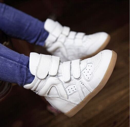 Children's genuine leather shoes boots high-top sneakers, kids shoes for boys and girls slip breathable brand shoes 2017 brand designer warm velvet sports children ankle boots kids girls winter genuine leather shoes infant boys toddler sneakers