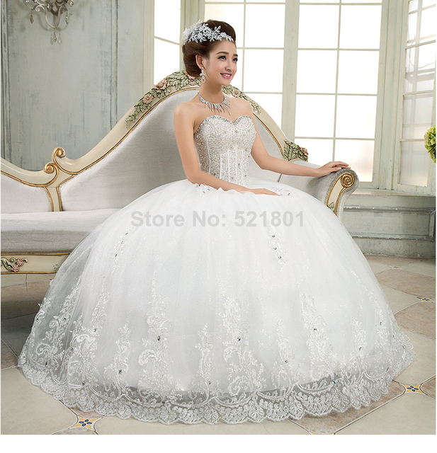 Wholesale new arrival ball gown sexy wedding gown 2014 tube top wholesale new arrival ball gown sexy wedding gown 2014 tube top princess style luxury lace junglespirit Image collections