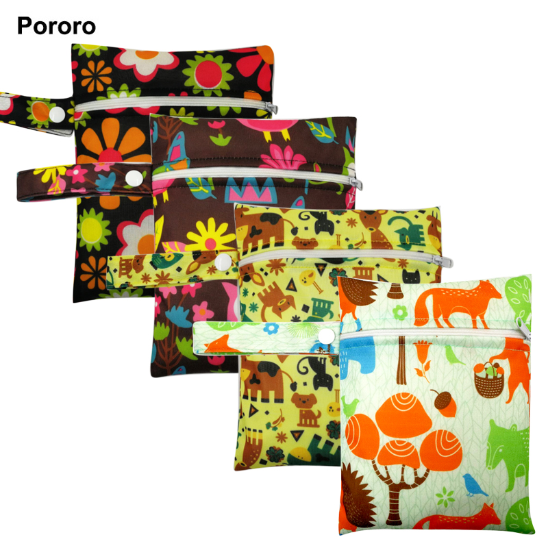 1pc 16*20cm Waterproof Reusable Single Pocket Wet Bag, Menstrual Pads Bag, Sanitary Pads Bag, Nursing Pads Stroller 15 Colors