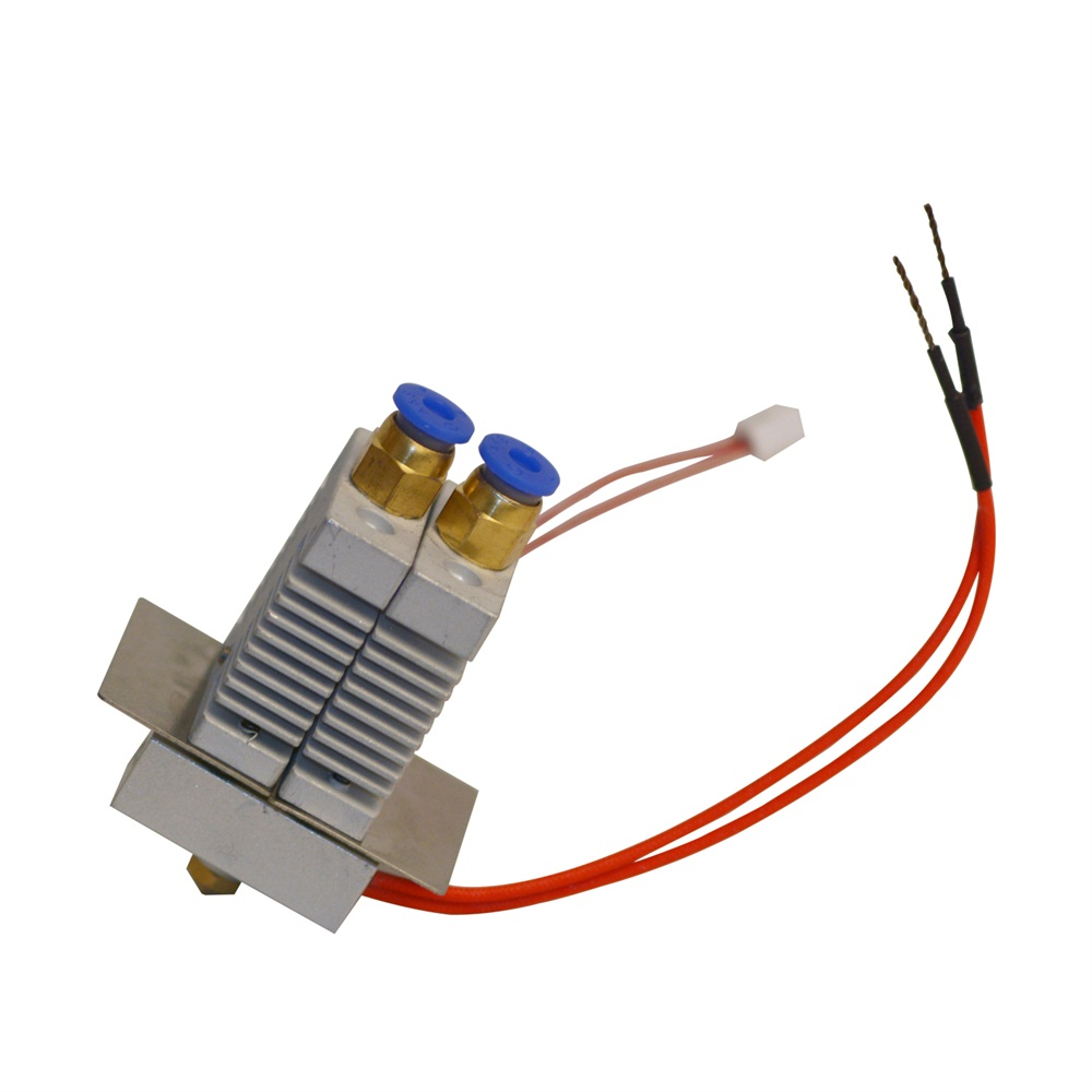 Geeetech 2 in 1 out Hotend Kit For Geeetech A10M and A20M 3D Printer With 0.4mm nozzle 1.75mm Filament Hot 3d Printer Parts anycubic upgraded 2 in 1 out nozzle throat with teflon tube 1 75mm for 3d printer free shipping