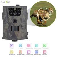 Outlife 8MP 940nm Hunting Camera Trap HD 720P Digital Trail Camera Night Vision 90 Degree 32GB
