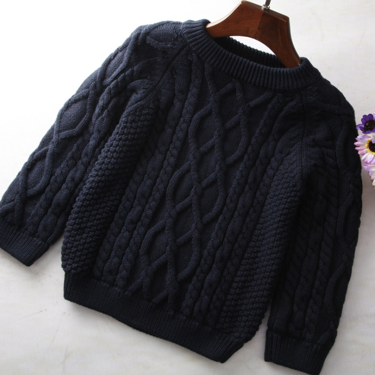 Kids Hemp Flowers Knitting Sweater Children Toddler Garment Thick And Heavy Pullover Sweater Baby Girls Knitted Sweaters цена 2017