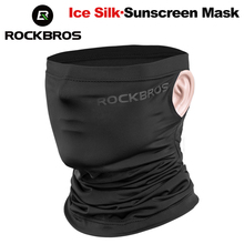 цена на ROCKBROS Summer Cycling Bike Bicycle Headwear Anti-sweat Breathable Cap Running Bicycle Bandana Sports Scarf Face Mask Equipment