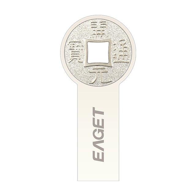 K80 eaget usb 3.0 100% 64 gb usb flash drives pen unidade Moda Rodada moedas antigas de Metal USB3.0 à prova d' água Presente Livre grátis