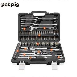Riparazione auto Tool Box Set Meccanica Strumento Set di Utensili A Mano Set Include la Chiave e la Cricchetto Set Grande per La Casa garage o in Auto