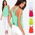 2017 New Summer Women Blouses Body Candy Color Casual Lady Shirt Sexy Backless Strap Womens Chiffon Blouse Tops Plus Size Q837