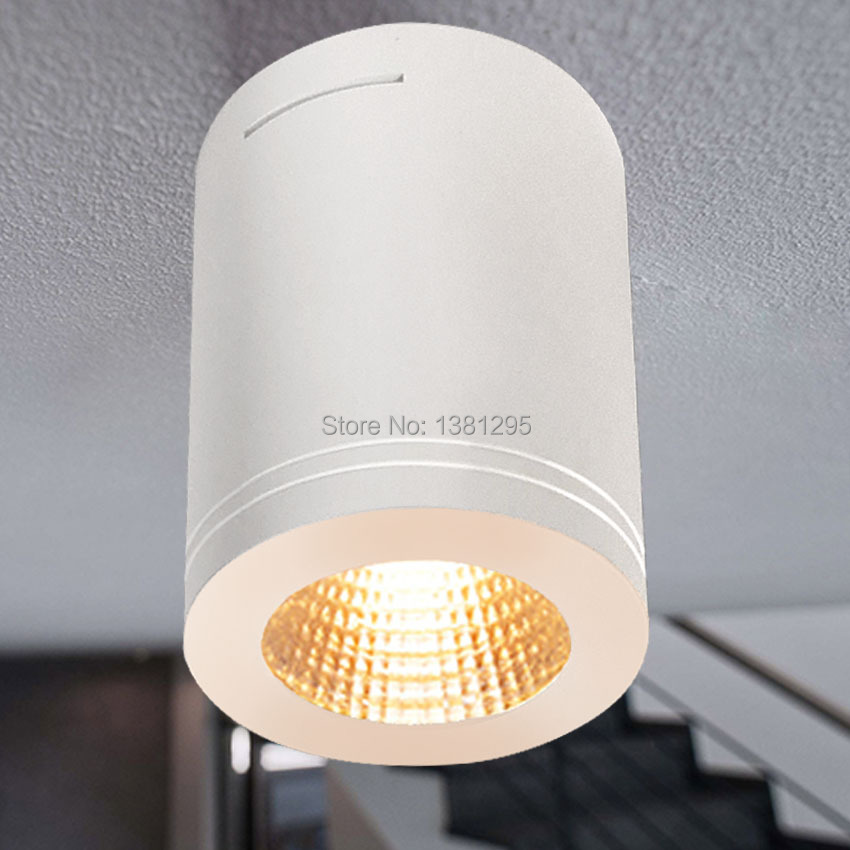 Surface Mount Led Lamp : Cree surface mounted led ceiling light dimmable cob w