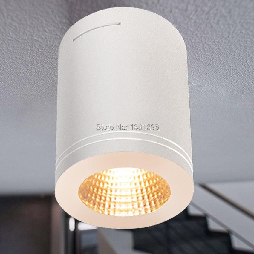 Us 2506 30 Offcree Montowane Na Powierzchni Sufitu światła Led Możliwość Przyciemniania Cob 12 W Montażu Podtynkowego Sufitu Lampy Salon
