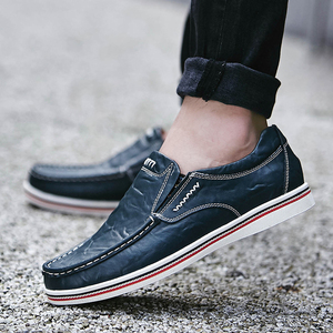 Image 2 - BIMUDUIYU Hot Sell Mens British Style Boat Shoes Minimalist Design Leather Men Dress Shoes Loafers Formal Business Oxfords Shoes