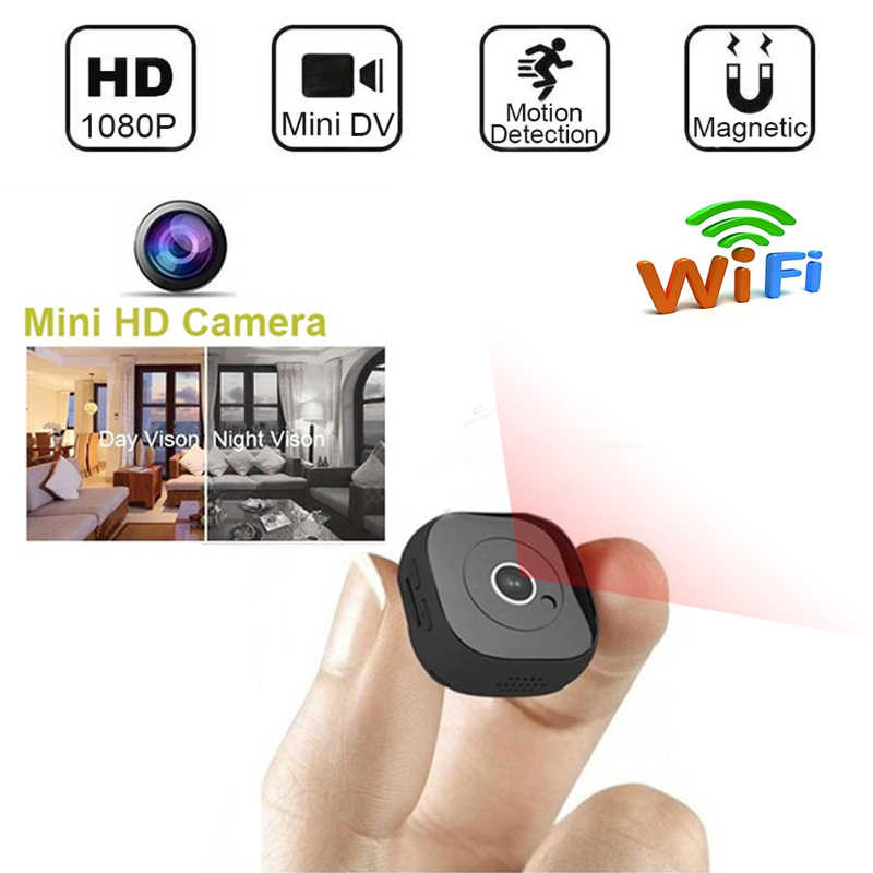 WIFI Mini Camera Infrared Night Vision 1080P HD Recording Portable DVR WIFI Camcorder Motion Sensor sport DV support Hidden Card