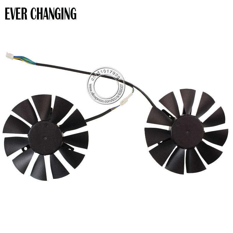 Free Shipping T128010SH 12V 0.25A 75mm 39*39*39mm VGA Fan For ASUS STRIX GTX960 GTX750TI Graphics Card Cooling Fan