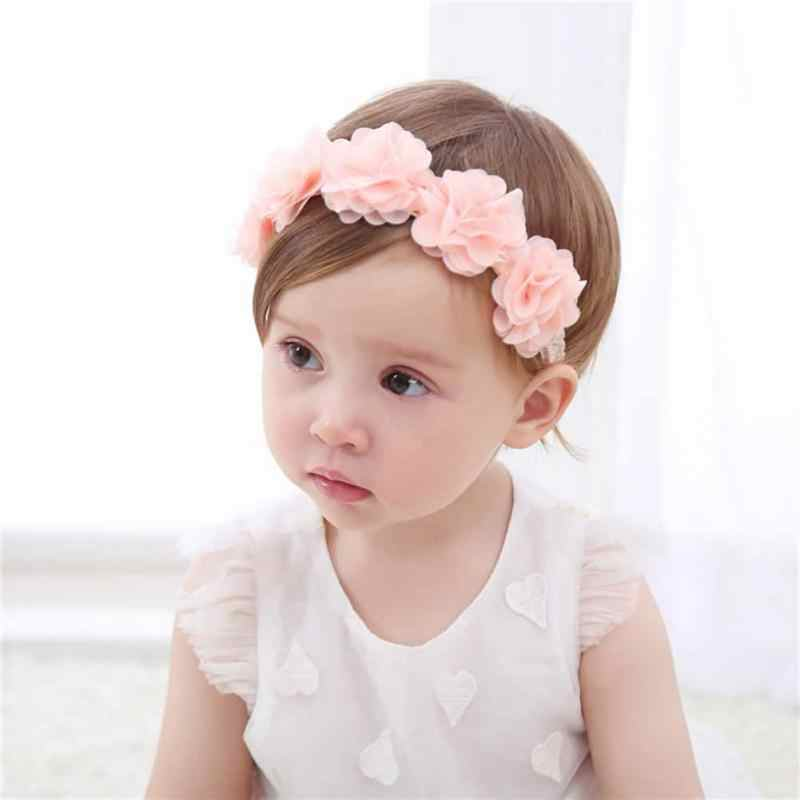 5c2d31a6722 ... New Arrive Cute Baby Girl Toddler Lace Flower Hair Band Headwear Kids  Headband Accessories ...