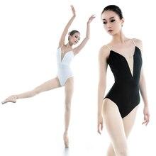 2019 year 2 colors new black White sexy M-3XL Dancewear Ballet Leotard women girl dance clothes ballet suit adult
