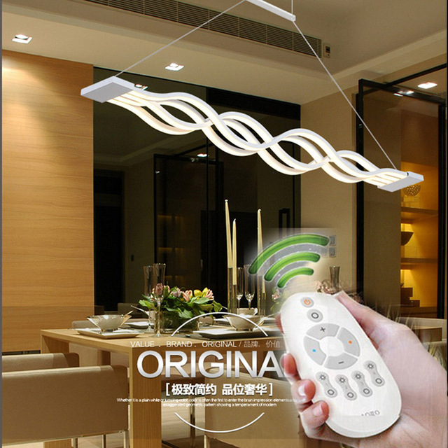 L100cm 120cm New Creative Modern Led Pendant Lights Wave Hanging Lamp Dining Room Living