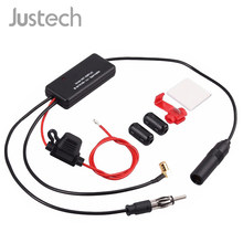 Justech 3 in 1 Auto Amplificatore Antenna AM/FM Auto Antenna Per Ricevere il Segnale Radio Digitale DAB AMP Booster rafforzare ANT-208PLUS(China)