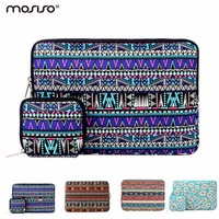 Mosiso Portable Zipper Canvas 11 13 15 Women Laptop Sleeve Case Sleeve Bag For Macbook Pro