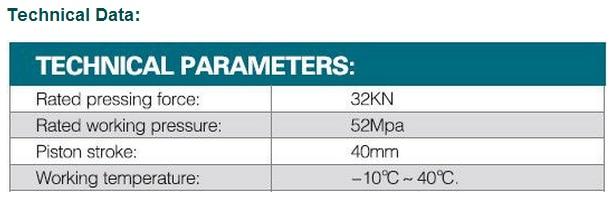 Гидравлический приспособления для трубки с V15, 18,22, 28,35, 42,54 челюсти FHT-1550