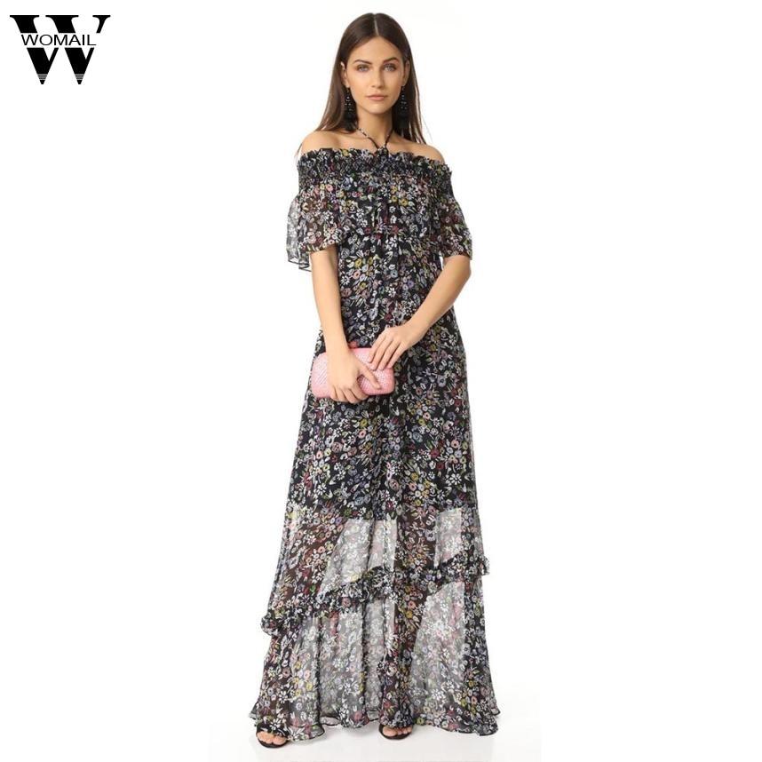 2017 Dress Women's Summer Print Ruffles Dress high quality Aug10