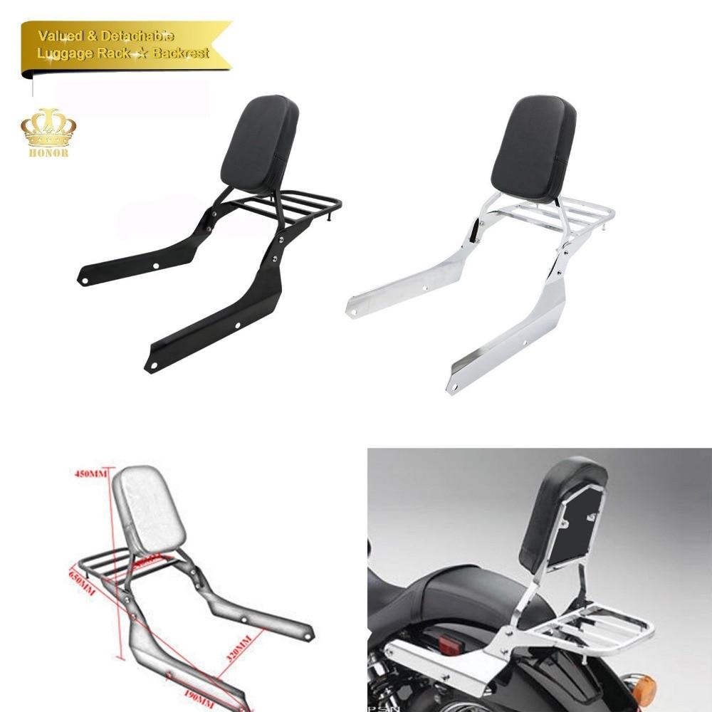 Dossier Sissy Bar + Porte-Bagages Pour Honda Esprit C2 VT750 750 Ombre Fantôme