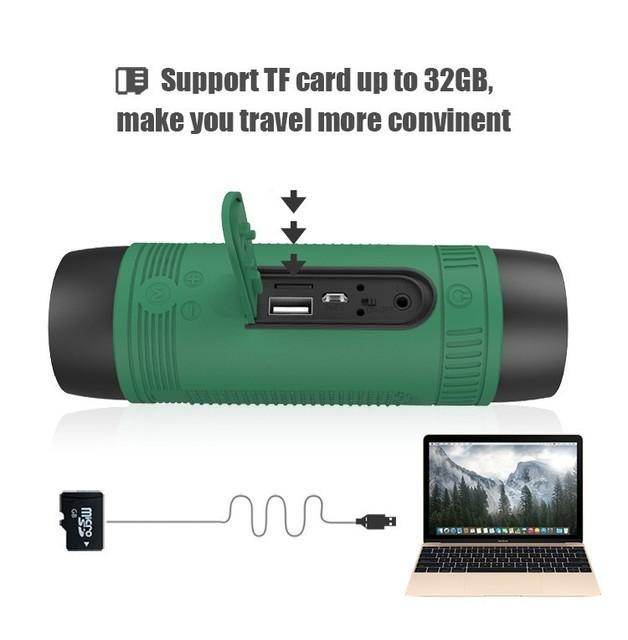 Boa qualidade zealot s1 bluetooth speaker subwoofer portátil recarregável banco de potência com luz led para o esporte ao ar livre +