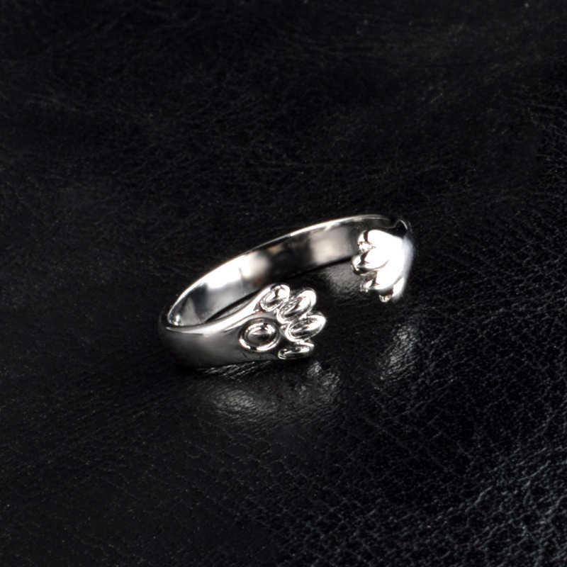 ขายส่งราคา 925 เงินสเตอร์ลิงเงาแหวนสำหรับแฟน/เด็กแฟชั่นเครื่องประดับแมวน่ารักกรงเล็บของขวัญคริสต์มาสที่ดีที่สุด