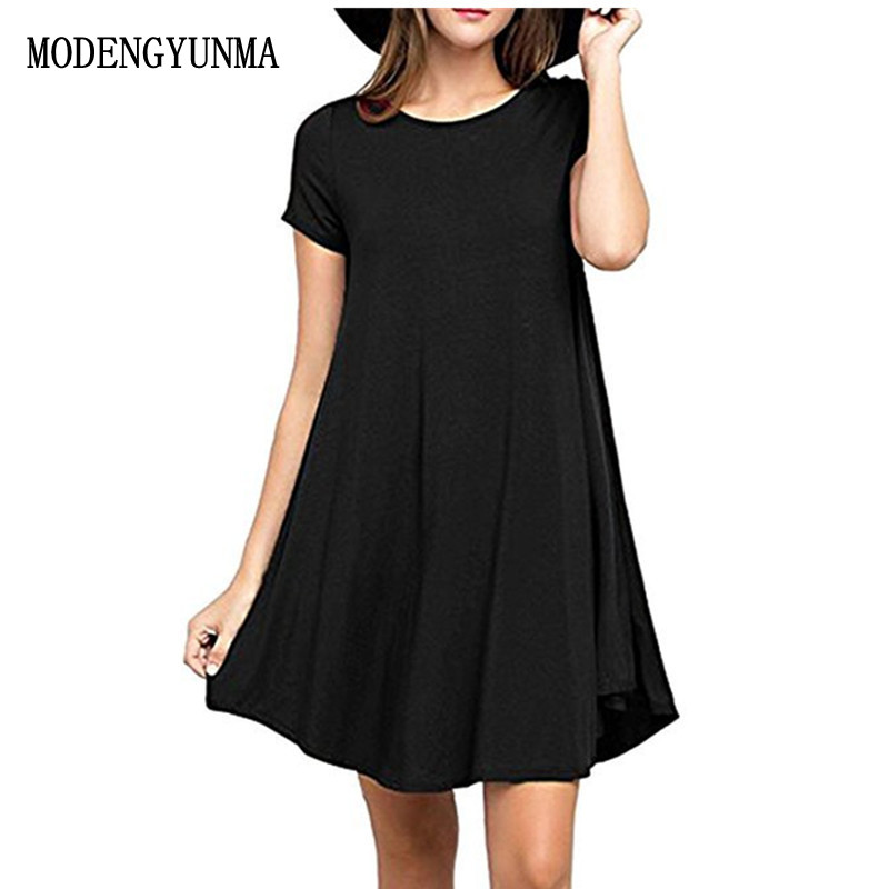 MODENGYUNMA Summer Maternity Dresses Clothes For Pregnant Women Clothing O-neck Short Sleeve 4 Colors Slim Pregnancy Dress 2018