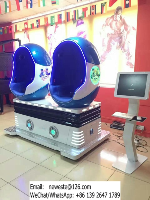 Very Popular! Amusement Park Equipment Interactive Virtual Reality 2 Seats 9D VR Movies Simulator Egg Cinema