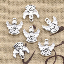 10pcs Charms lovely pray angel 14x13mm Antique Making pendant fit,Vintage Tibetan Silver,DIY bracelet necklace(China)