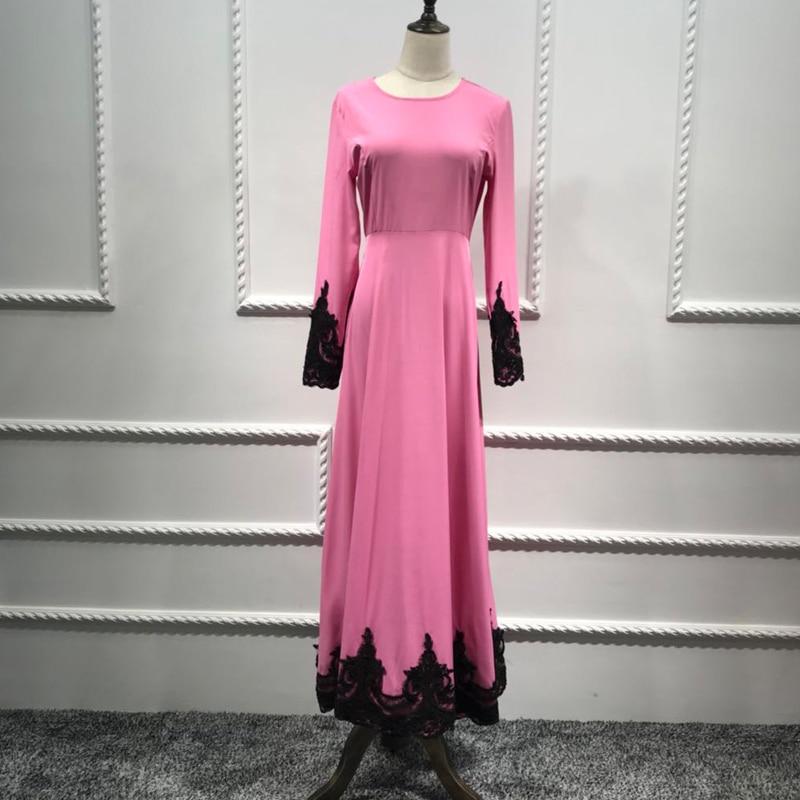 Vestidos Abaya Dubai Turkey Arabic Kaftan Lace Hijab