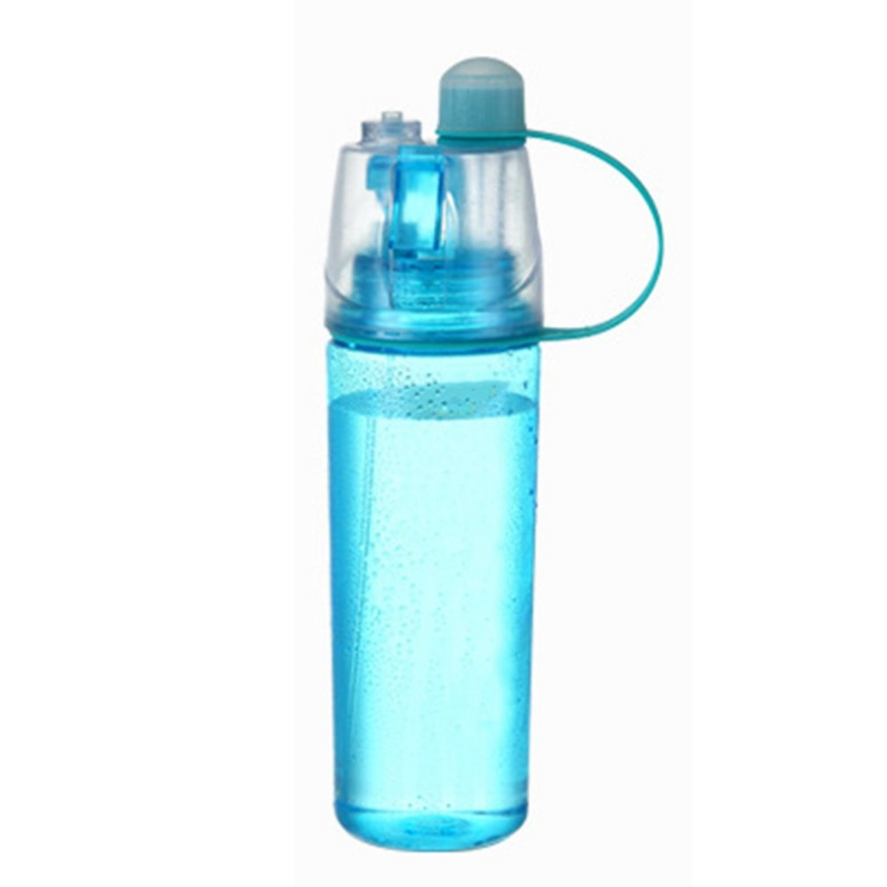 US $3 64 10% OFF|400ml Multifunctional Cylinder Shape Water Bottle Cool  Summer Sport Outdoors Portable Large Capacity Spray Water Bottle-in Water