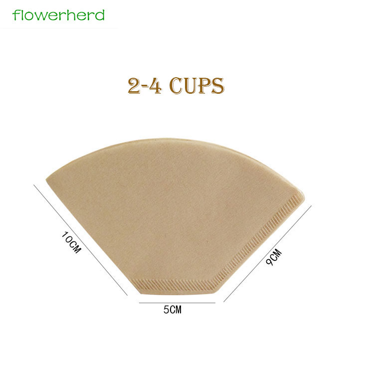 Natural Brown Cone Coffee Filters 100 Count Hand Drip Original Brown Paper Coffee Filters Size 102 Strainer Tea Infuser in Coffee Filters from Home Garden