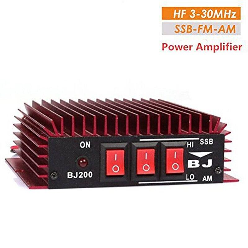 BaoJie BJ-200 CB Radio VHF amplificateur de puissance BJ200 pour Ham Radio Bidirectionnelle Radio HF Émetteur-Récepteur Talkie Walkie Rouge Couleur A7170