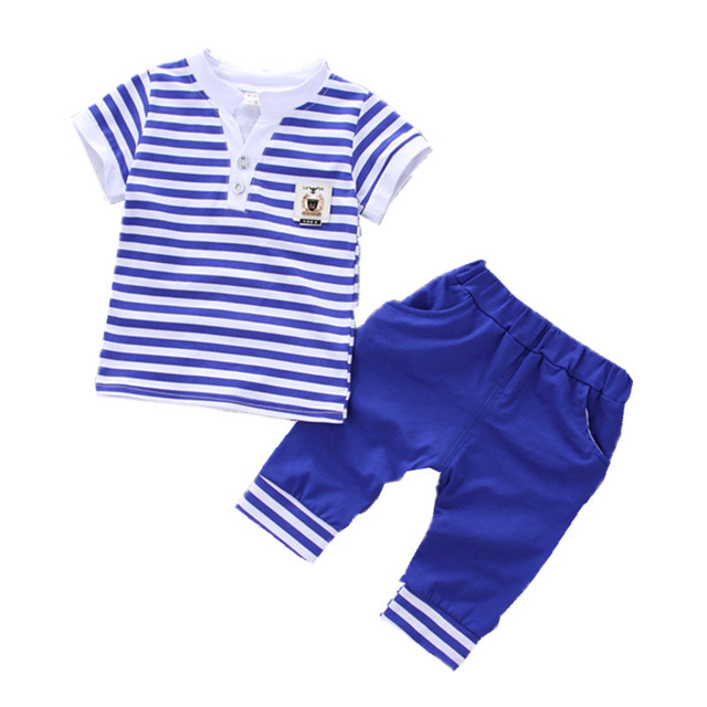 70d8d3b6fbce 2018 Summer new fashion baby boys clothes set cotton material with ...