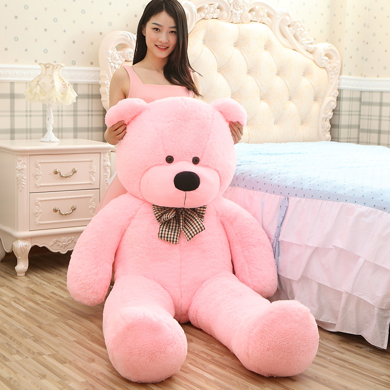 180cm Life size teddy bear plush stuffed  toys giant soft animals baby dolls big peluches kid children doll Christmas Gift 1pcs large size 120cm teddy bear plush toys bear 4 colors high quality kisd toys bear doll lovers christmas gifts birthday gift