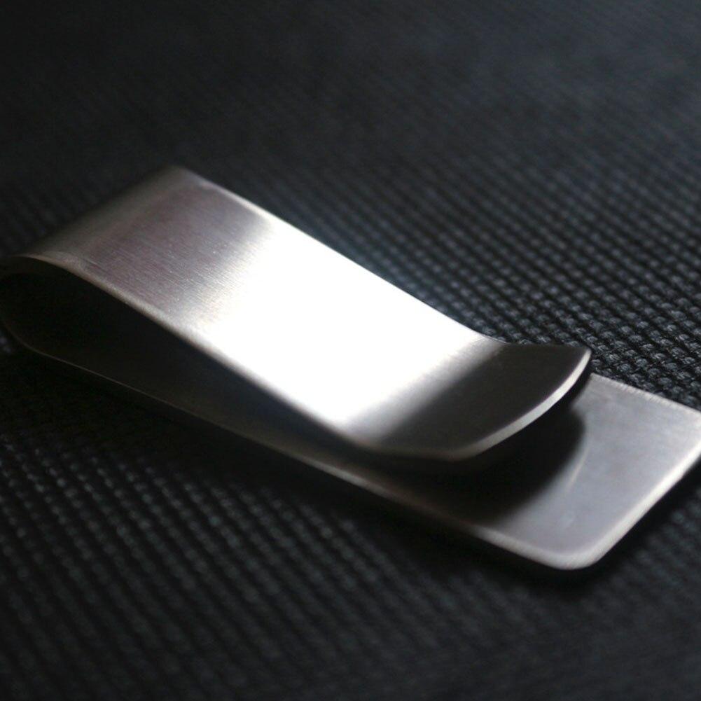 Unisex Credit Card Durable Metal Pocket Storage Para Brass Clamp Money Clip Cash Holder Stainless Steel Vintage Wallet Mini