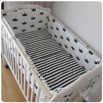 Promotion! 6/7PCS Customize baby bed around set unpick and wash bedding set,Duvet Cover,120*60/120*70cm