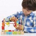 24.5*15*21 см Дети Дети Детские Красочные Деревянные Бусы Вокруг Математика Игрушки Развивающие Игры, Игрушки