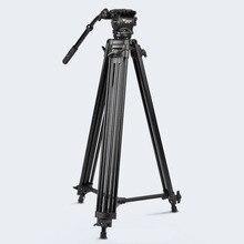 Штатив для фотокамеры ASHANKS High Quality WF718 с высокой нагрузкой Видеокамера Штатив для фотокамеры DSLR с жидкостной головкой для Canon Nikon