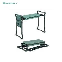 Przenośne krzesełko ogrodnicze meble ogrodowe siedzisko tv produkt składany poduszka na krzesło ogrodowe stołek z 3 dodatkowymi narzędziami w Krzesła ogrodowe od Meble na