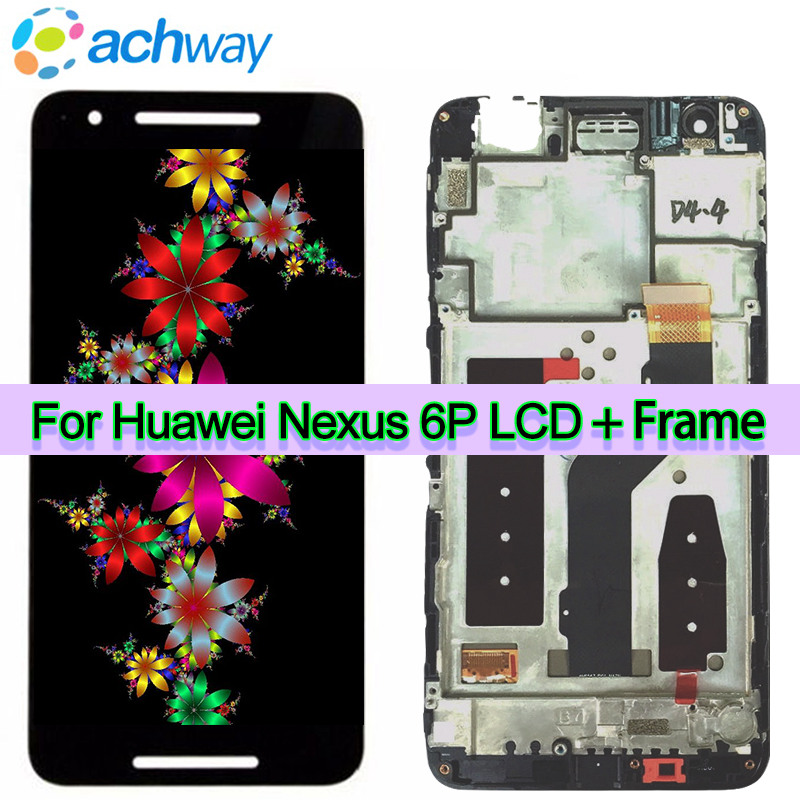Huawei Google NEXUS 6P LCD Display Touch Screen Digitizer Panel Assembly With Frame Replacement For 5