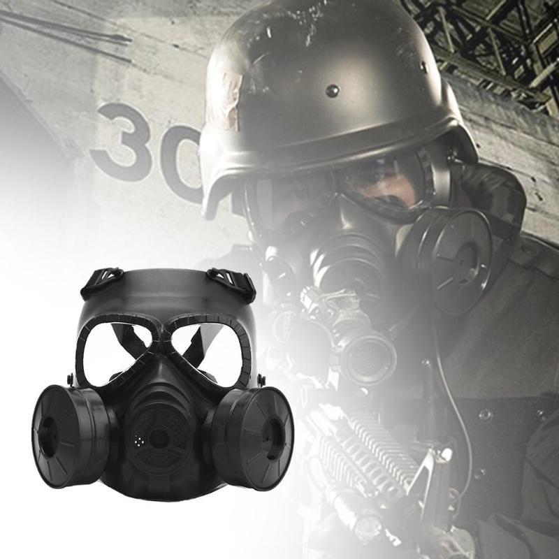 Date M04 masque de vélo Cs terrain jeux de plein air Faceguard résistant aux chocs masques à gaz de protection en plein air masque avec ventilateur refroidisseur