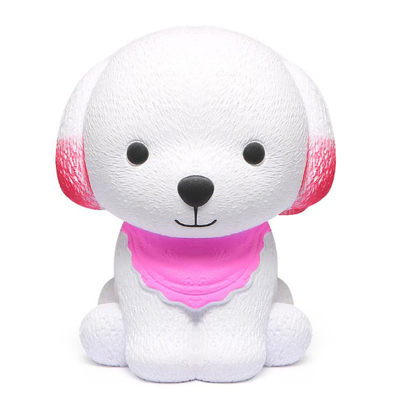Jumbo Kawaii Scarf Dog Squishy Simulation Straps Cream Scented Soft Squishies Squeeze Toy Slow Rising Kid Baby Gift Toy 8*6 CM